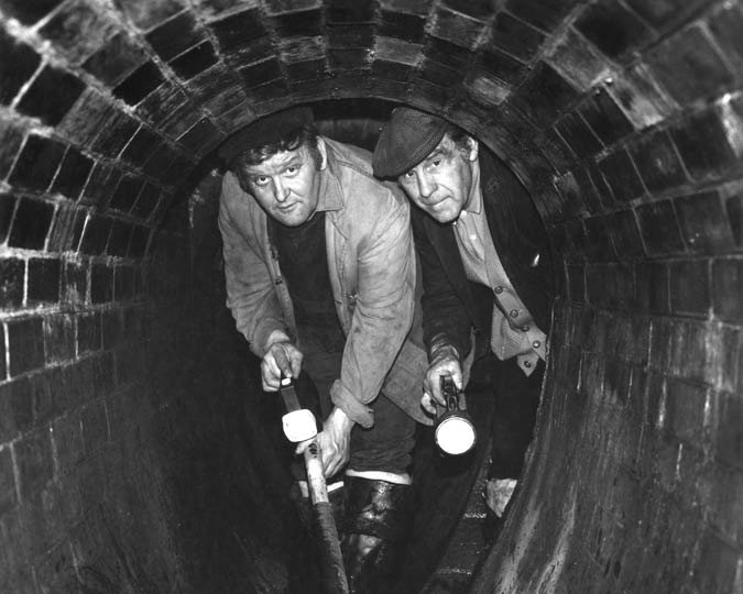 Open sewer in London from the Victorian Times