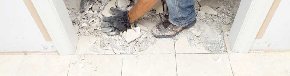 Image of cleaner carrying out after builders cleaning
