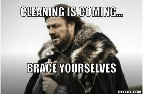 Cleaning meme - Game of thrones