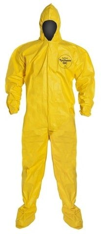 Hazmat suit for cleaning