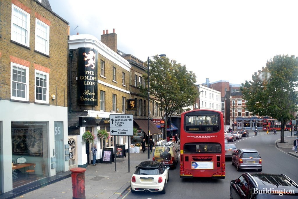 Bus on Fulham High Street - Cleaners in Fulham